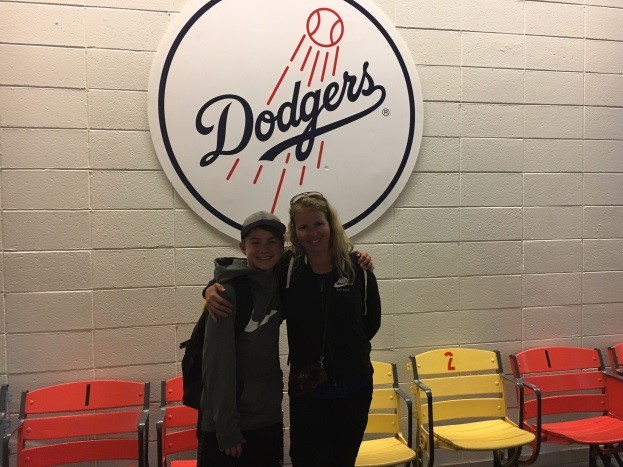 ans trip 2016, dodgers, jen in california