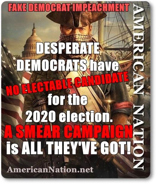 Democrat Party Smear Campaign failure!