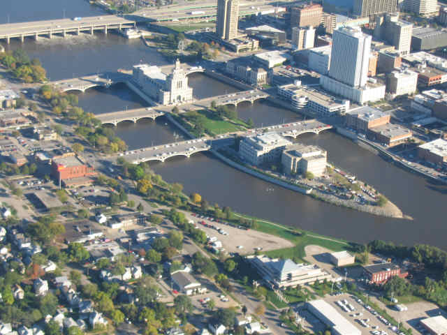 Mays Island, Downtown Cedar Rapids, Iowa