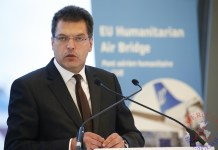 El comisario de Ayuda Humanitaria y Gestión de Crisis, Janez Lenarcic.