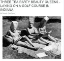 3 TEA PARTY BEAUTY QUEEN ON GRASS
