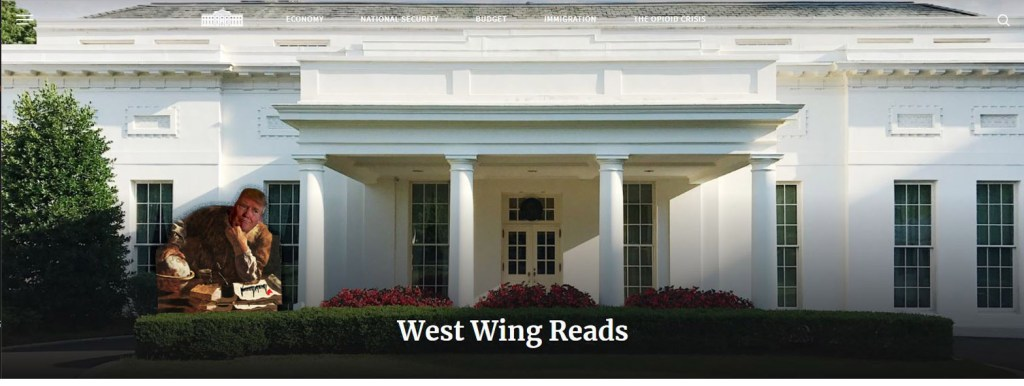 It;s a hard job editing West Wing Reads