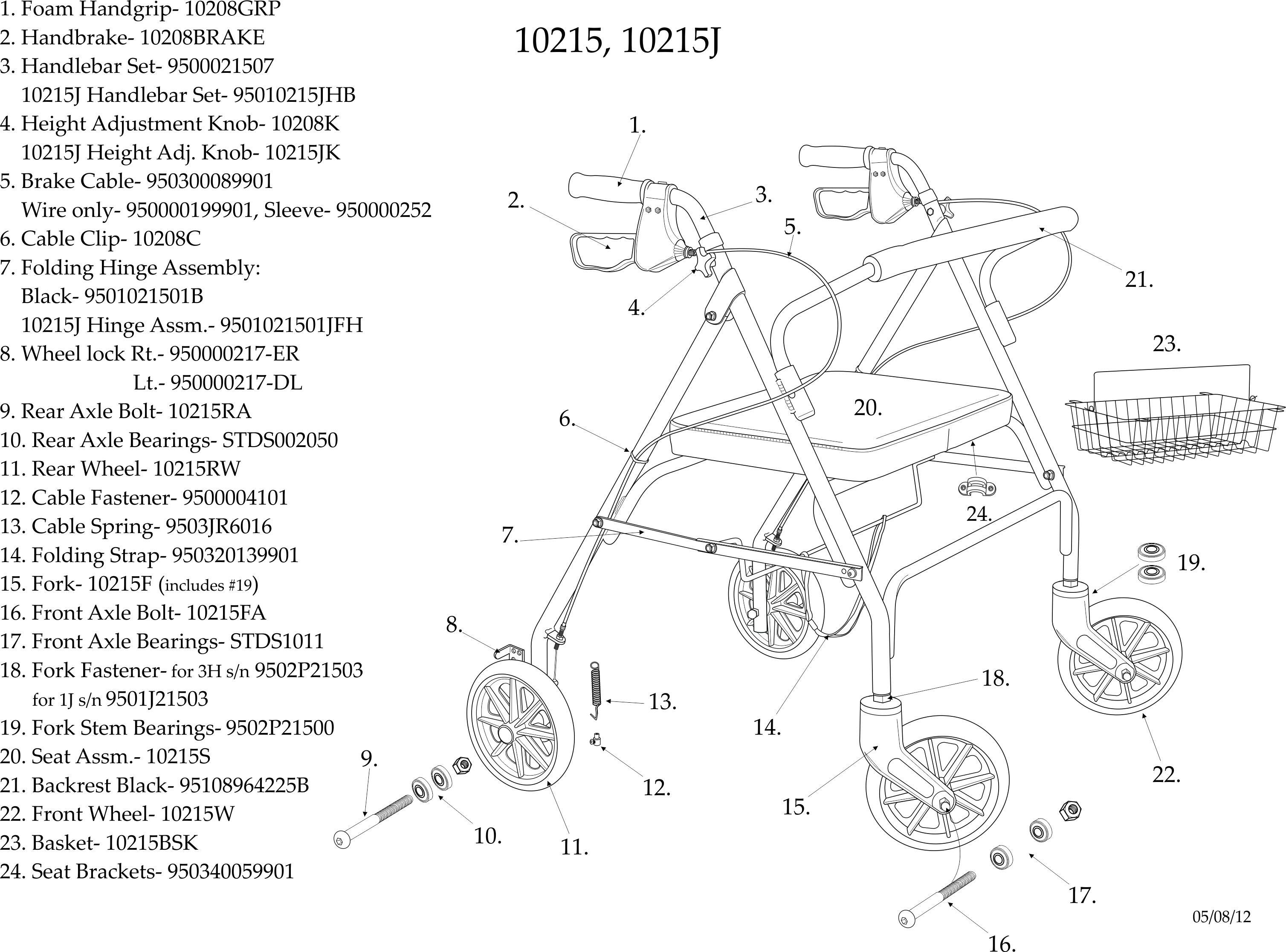Drive Go Lite Bariatric Steel 4 Wheel Rollator