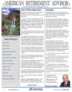 4-2015 April Newsletter Cover