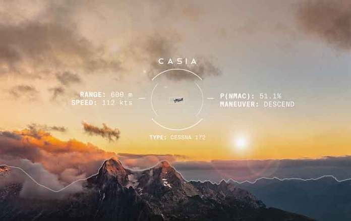 The Casia technology has been extensively tested, with 7,000+ real-world test flights and mid-air collision scenarios – flying various manned aircraft against UAS – and over 40,000 encounters in simulation. (Courtesy of Iris Automation)