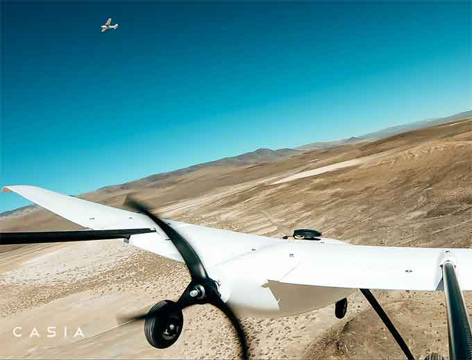 """Casia providing the """"eyes and brain"""" for drones, to enable missions Beyond Visual Line of Sight (BVLOS). (Courtesy of Iris Automation)"""
