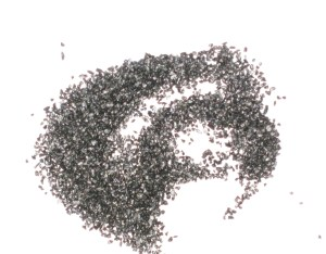A pile of coarse black powder