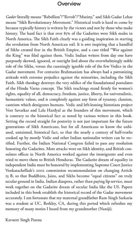 Sikh Gadar Lehar - Book Overview by S. Kavneet Singh