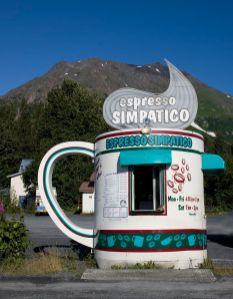 Espresso Simpatico Coffee Shop. Seward, Alaska. August, 2008. Photo by Carol Highsmith.
