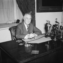 President Franklin Delano Roosevelt, 1938. Photo by Harris and Ewing.