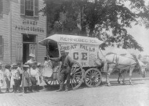 Birney Public School Children and Teacher Examine Ice Wagon Washington, DC. 1899. Photo by Frances Benjamin Johnston.