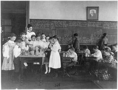 Elementary School Math Class Washington, DC, 1899. Photo by Frances Benjamin Johnston