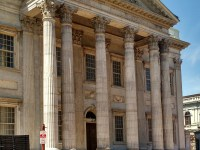 The Bank of the United States, established by Hamilton in Philadelphia.
