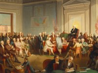 The Signing of the Constitution, an oil by Thomas Rossiter. Courtesy of the New York Historical Society