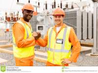 Electrical engineers at a construction site. They will be in high-demand in a serious reconstruction plan. (dreamstime)