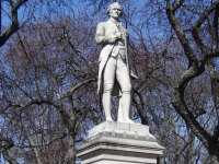 Alexander Hamilton's statue in Central Park, New York City.