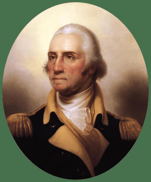 General George Washington, (posthumous) portrait by Rembrandt Peale, ca. 1850