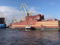 Russia's floating nuclear plant, the Akademik Lomonovosov, features modern small reactors.