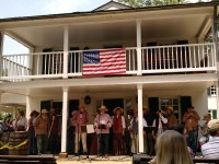 The Washington Revels perform at Great Falls National Park. (Nancy Spannaus)