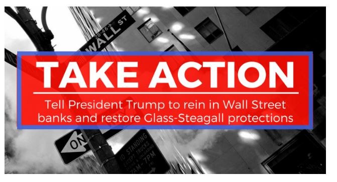 Representative Kaptur's New Petition on Glass-Steagall (Screenshot)