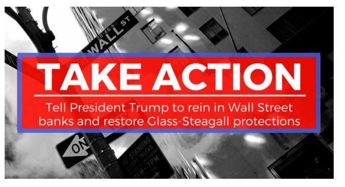 Representative Kaptur's New Petition on Glass-Steagall (Screenshot)