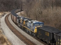 CSX coal cars, a major component of Virginia rail traffic today.