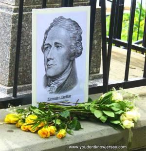 Hamilton grave site at Trinity Church, Manhattan.