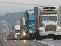 Trucks on congested I-81