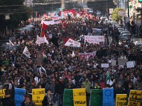An anti-austerity demonstration in Italy in 2012.