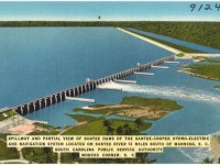 This dam at Lake Marion, South Carolina, was built by the WPA as part of rural electrication.