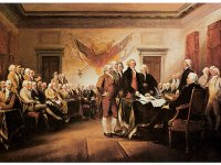 John Trumbull's painting of the signing of the Declaration of Independence
