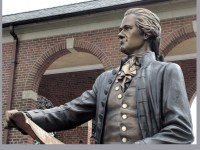 American System founder Alexander Hamilton, a new statue at the Coast Guard Academy (Dianne Durante)