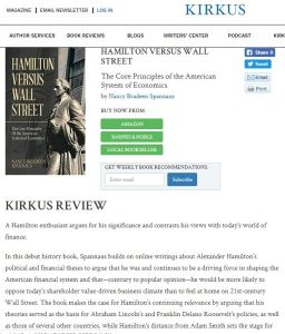 Kirkus: `A Thoughtful, Well-written Argument for Hamilton's Financial System'