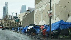 Skidrow, home of thousands of homeless in Los Angeles