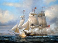 A naval battle in the War of 1812.