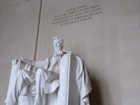 The Lincoln statue at the Lincoln Memorial, Washington, D.C.