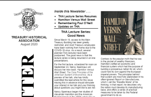 Spannaus to Address Treasury Group on Hamilton