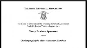 Spannaus Address to Treasury Now Viewable