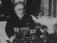 FDR giving his Four Freedom speech, Jan. 6, 1941.