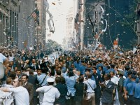 Americans come together to celebrate the successful Apollo mission in a huge NYC parade.