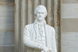 Alexander Hamilton's statute in the Capitol Rotunda.