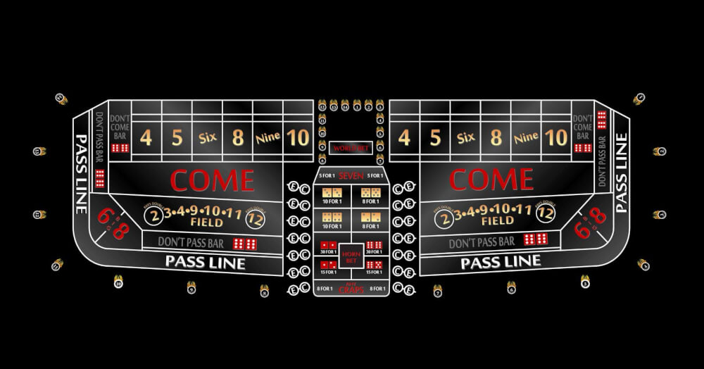 8 Casino Style Craps Table Custom Manufacture Of Table