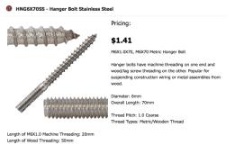 hanger bolt