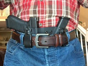 Author wearing Werkz AIWB Bisect Holster with Glock 17.