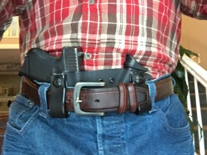 Author wearing Werkz Appendix Inside the Waist Band (AIWB) Bisect Holster with Glock 26.