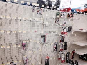 Flashlight aisle at the Cumberland County Walmart.
