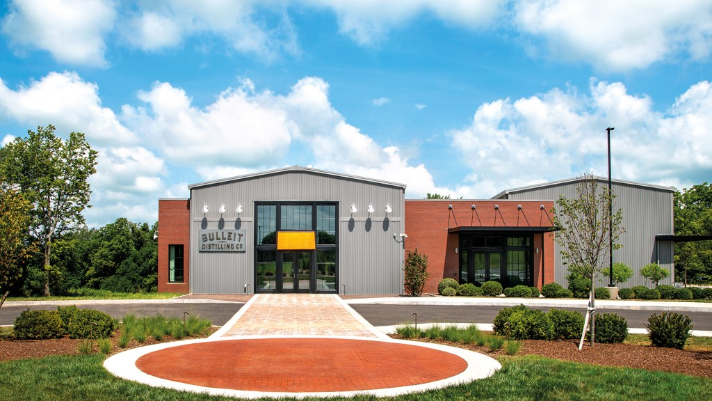 Bulleit Distilling's Shelbyville-based distillery exterior