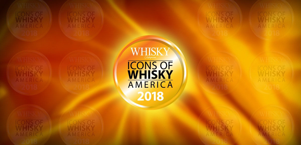 Icons of Whisky America 2018 logo header