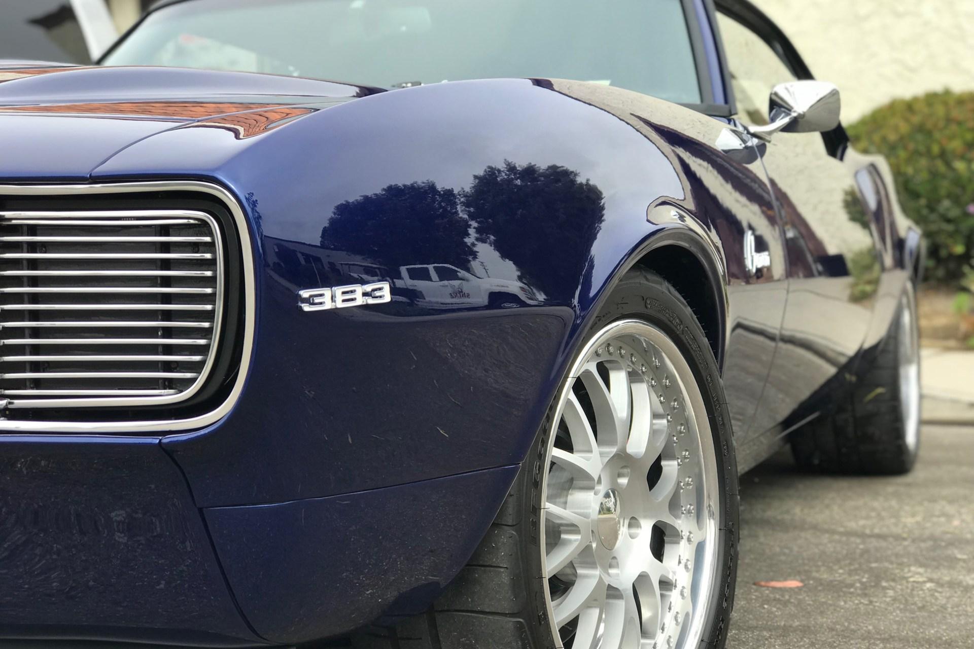 PPF Installation on royal blue 383 Camaro