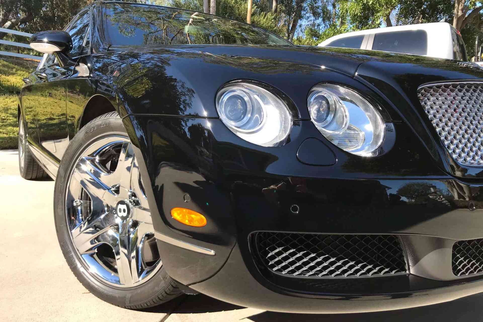 XPEL Paint Protection installation on black Bentley